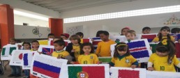 Escola Municipal promove evento de abertura da Copa do Mundo